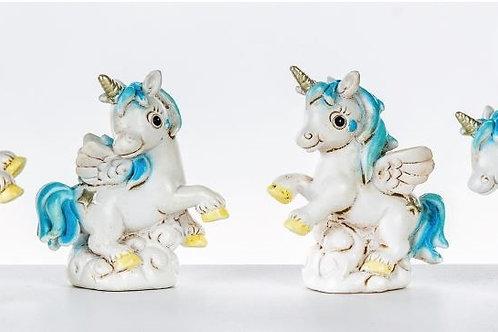 Unicorno mini cielo 4 assortiti bomboniere Nascita Battesimo