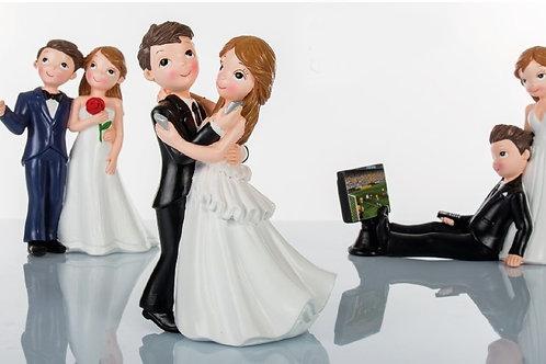 Sopratorta sposini tecno 3 assortiti nozze matrimonio