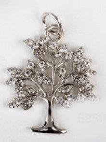 Charm pendente albero silver