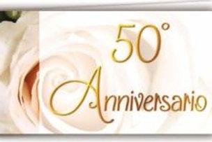 Biglietto matrimonio 50°