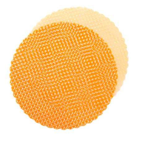 Confezione 50 pz. velo tulle pois arancioni