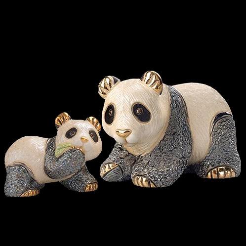 Panda con foglia baby - De rosa collezione
