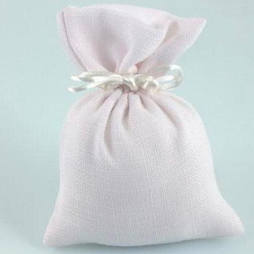 Portaconfetti Sacchetto rosa in cotone