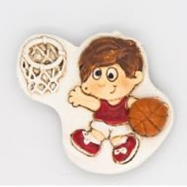 Basket maschio magnete bomboniere Comunione Cresima