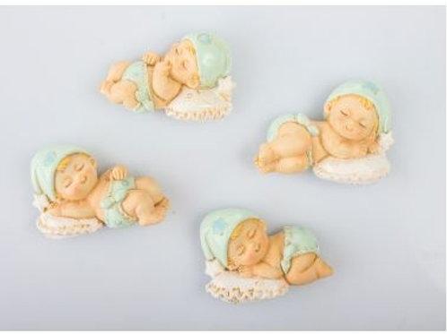Neonato cuscino magnete maschio clip 4 assortiti bomboniere Nascita e Battesim