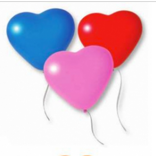 Palloncini gonfiabili a forma di cuore colori assortiti 15 pezzi