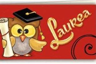 Biglietto Laurea gufetto