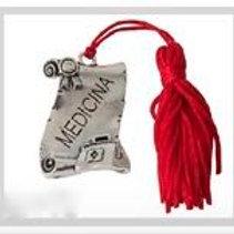 Pergamena ricordo Laurea in Medicina completa di Nappina Rossa