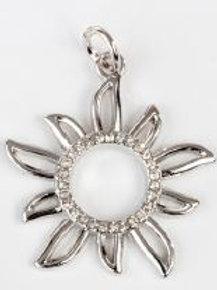 Charm pendente sole silver
