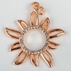 Charm pendente sole oro rosa