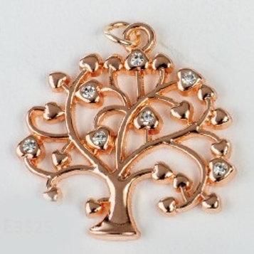 Charm pendente albero oro rosa