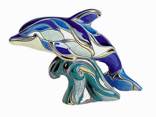 Delfino su onda - De rosa collezione