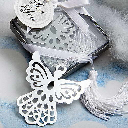 Segnalibro angelo con nappina e scatolina