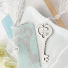 Segnalibro Chiave con nappina bianca e scatolina