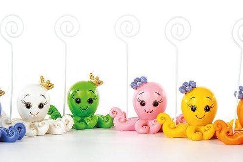 Polipo clip femmina 6 assortiti bomboniere Nascita Battesimo
