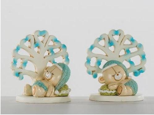 Orso e albero della vita maschio 2 assortiti bomboniere Nascita e Battesimo