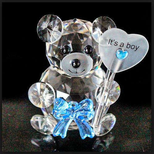 """Orsetto in cristallo """"It's a Boy"""""""