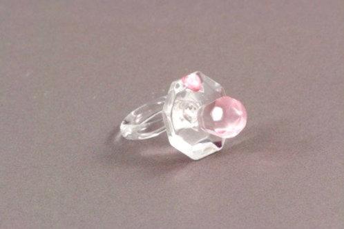 Ciuccio in cristallo rosa