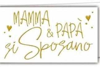 Biglietto matrimonio mamma & papa'