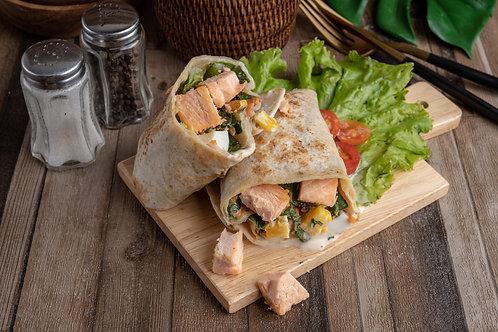 Green Salad Premium Salmon Wrap