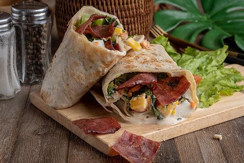 Green Salad Premium Smoked Beef Wrap