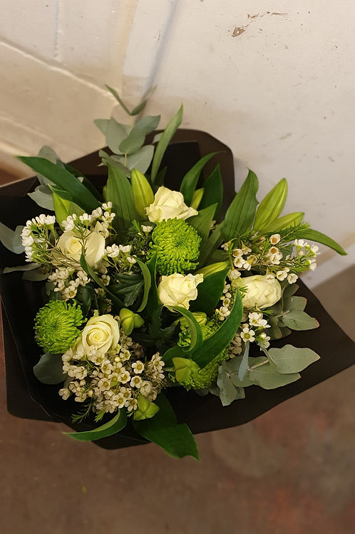 Creams and Green Bouquet