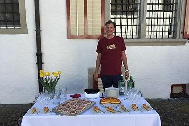 Süsse Café-Pause serviert durch Gastgebr Thomas für einen Businss-Event