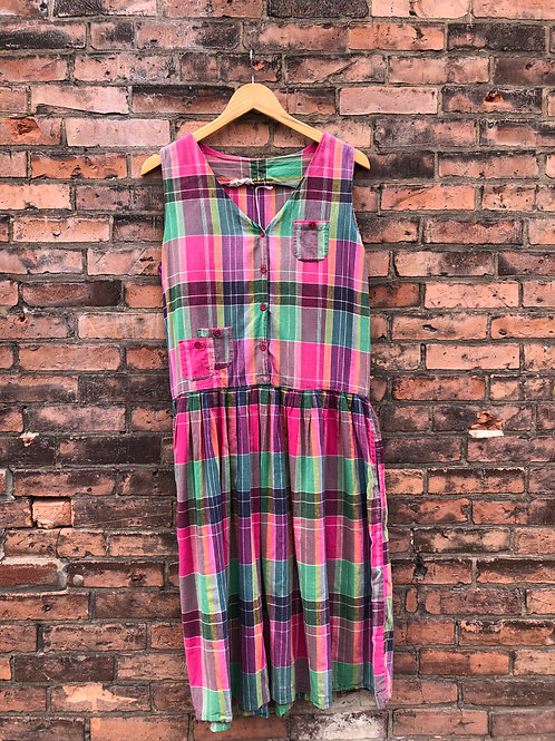 80's plaid dress
