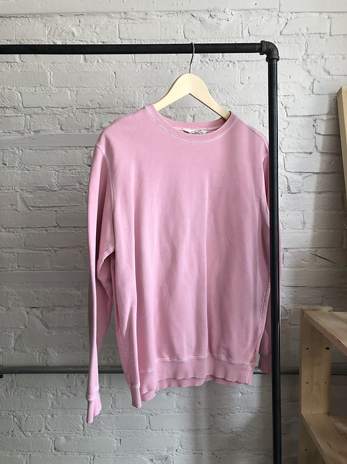 faded pink crew