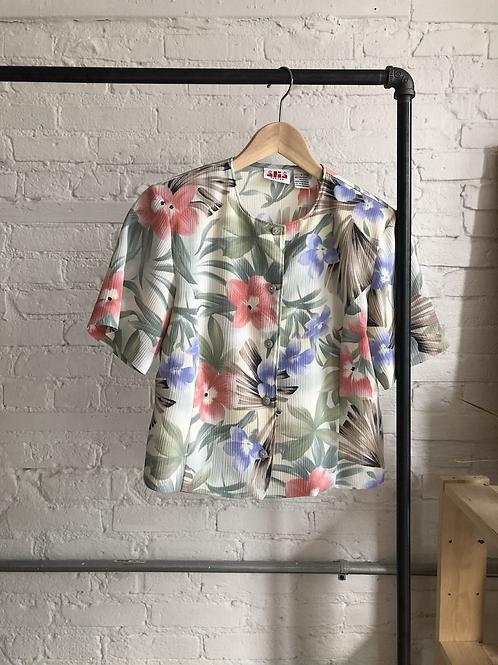 80's floral - m