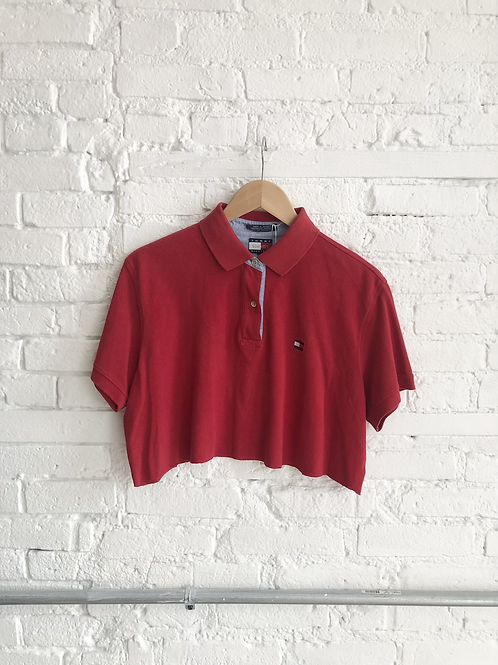 tommy polo crop
