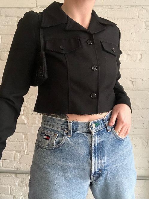 90's crop blazer