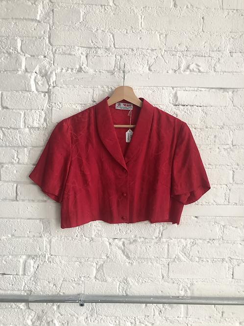 80's crop blouse