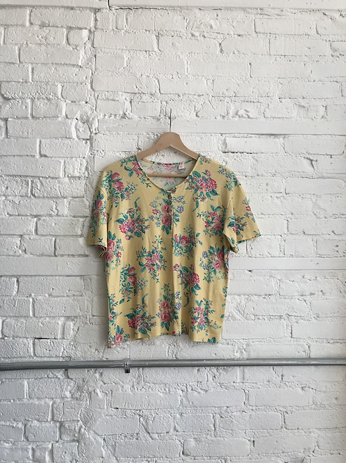 90's floral top
