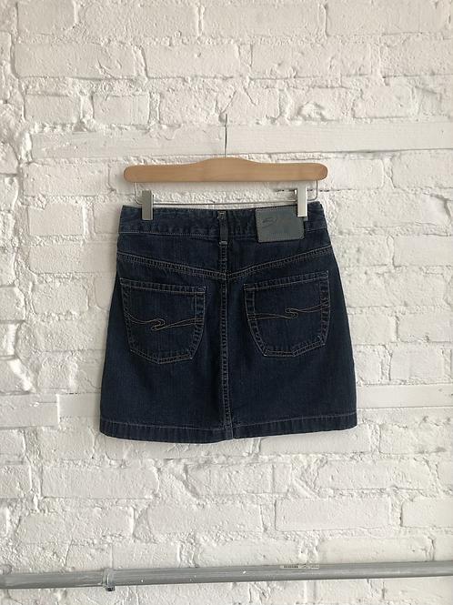 Y2K silver miniskirt