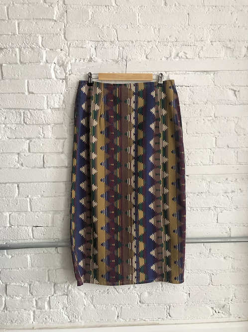 80's aztec skirt