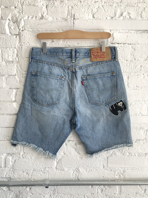 levis embroidered shorts