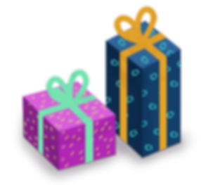 gifts and presents vector art illustration
