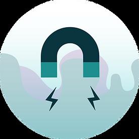 Conversion magnet icon illustration