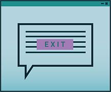 exit intent pop up icon illustration