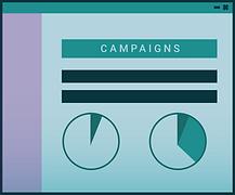 marketing campaigns icon illustration