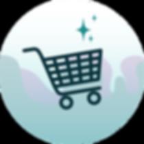 Shopping cart icon illustration