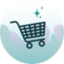 Shopping cart icon illustration