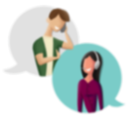 man and woman talking on the phone vector art illustration
