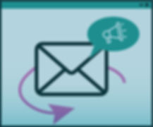 e-mail marketing message icon illustration