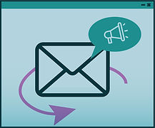 e-mail marketing message icon illustration