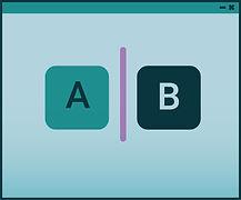 A/B testing icon illustration