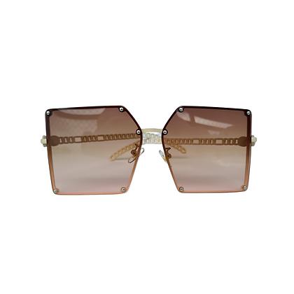 Óculos Square Brown