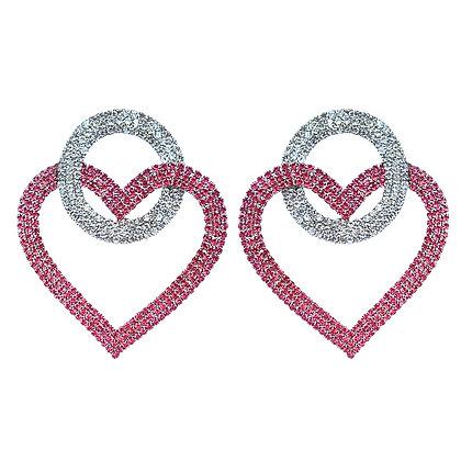 Brinco Maxi Pink Heart