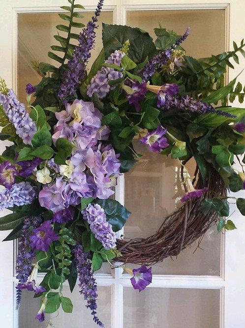 """""""Lilac Medley Garden""""  Wreath"""